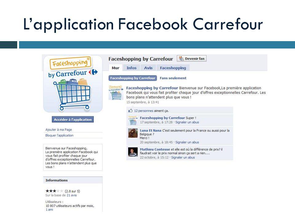 L'application Facebook Carrefour