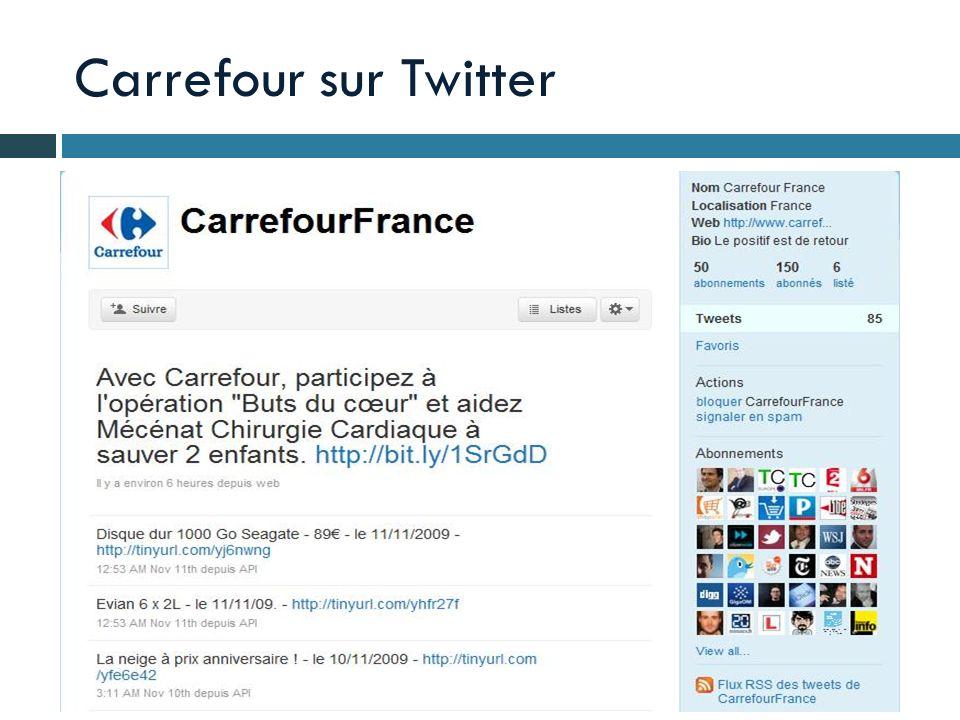 Carrefour sur Twitter