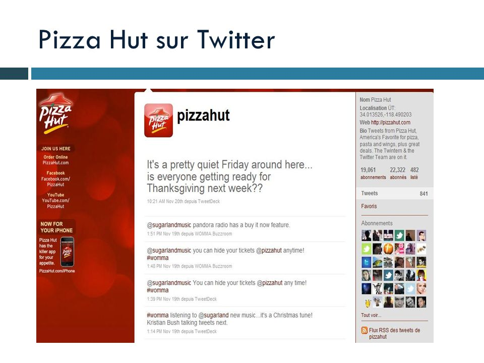 Pizza Hut sur Twitter