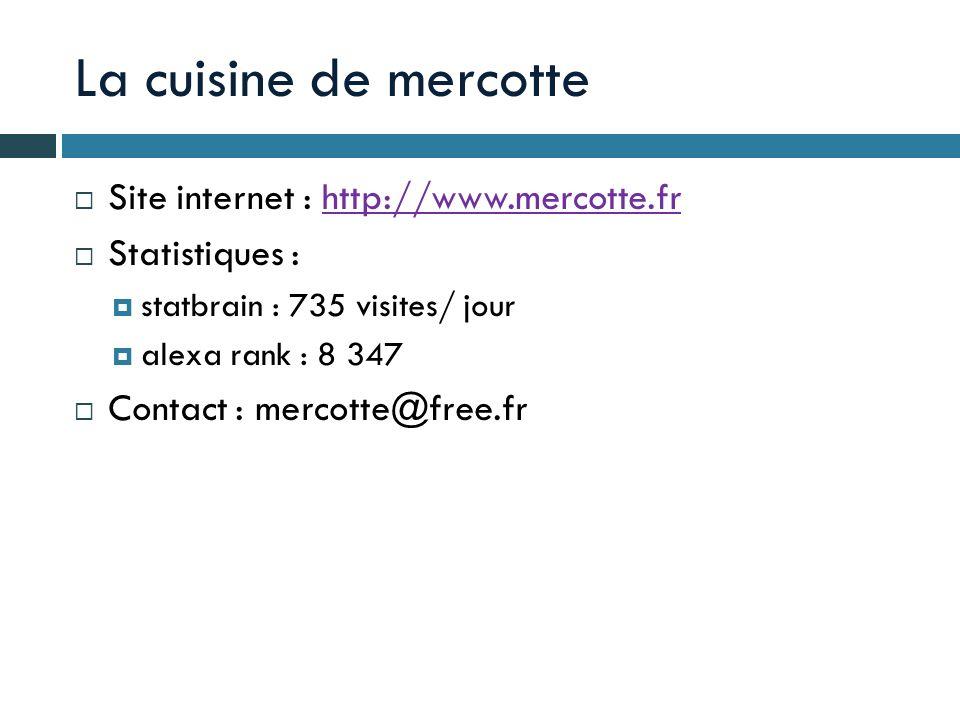 La cuisine de mercotte Site internet : http://www.mercotte.fr