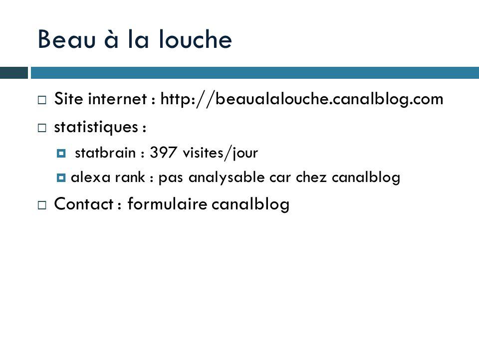 Beau à la louche Site internet : http://beaualalouche.canalblog.com