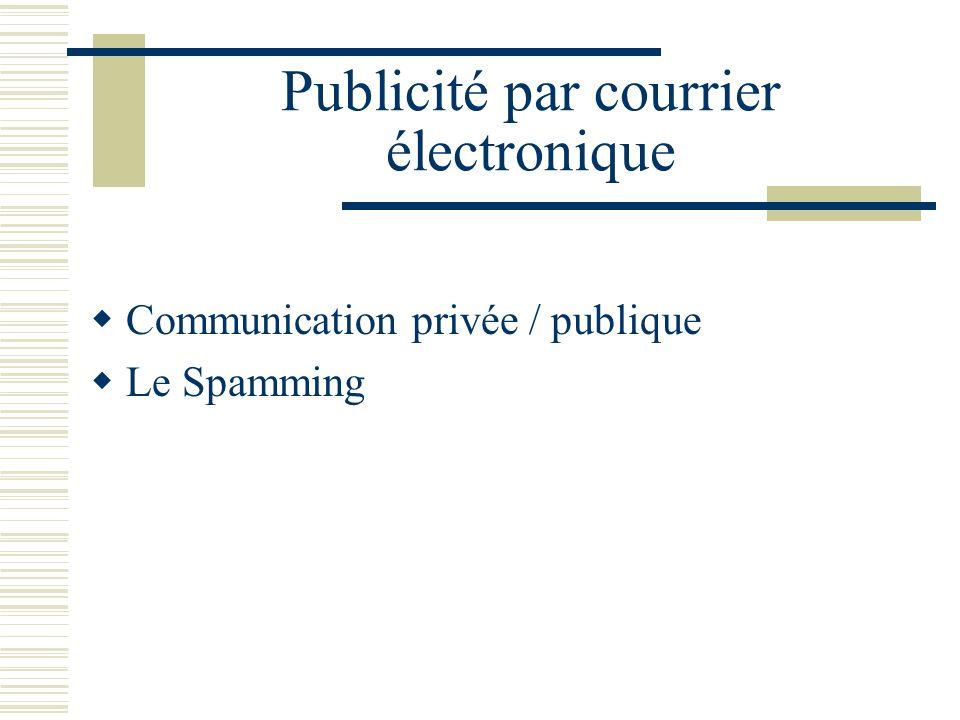 Publicité par courrier électronique