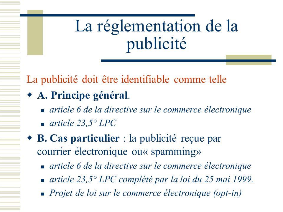 La réglementation de la publicité