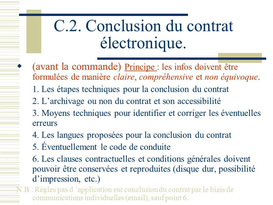 C.2. Conclusion du contrat électronique.