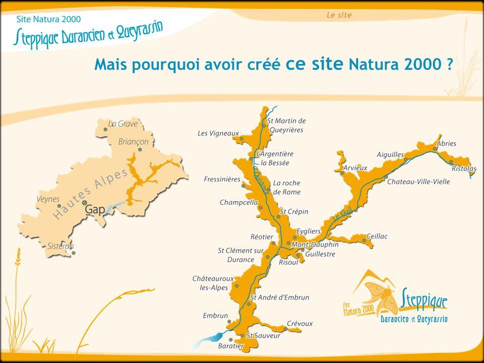 Mais pourquoi avoir créé ce site Natura 2000