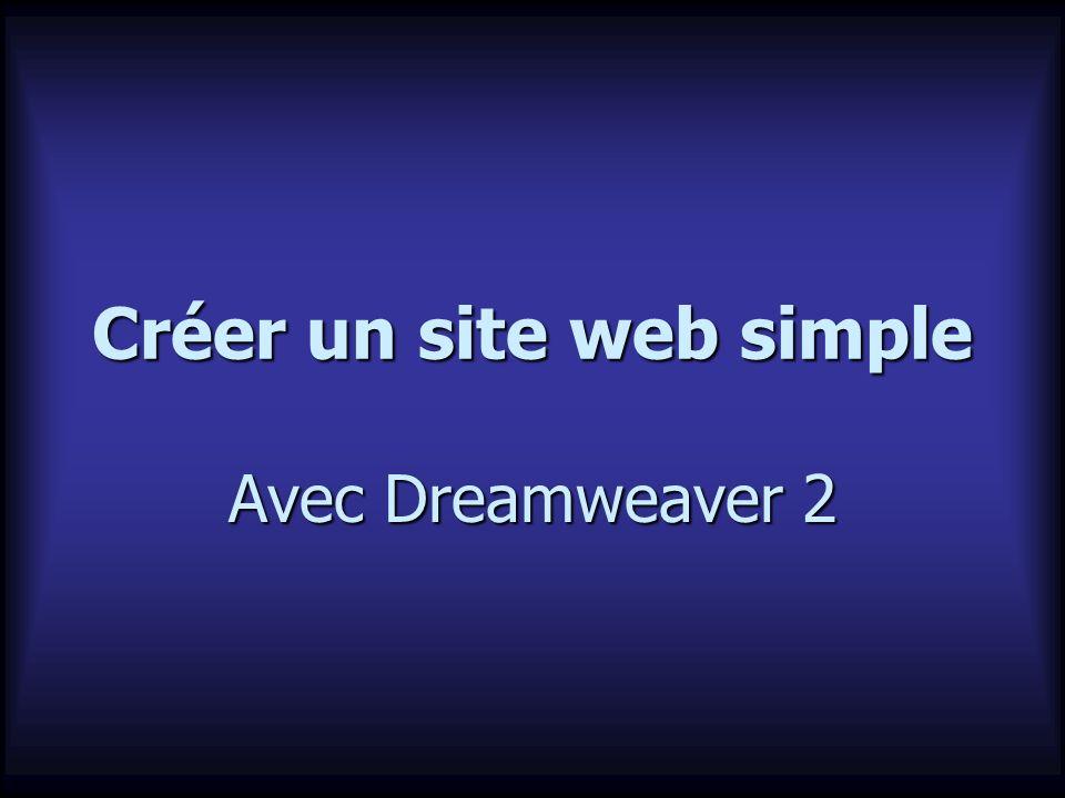 Créer un site web simple