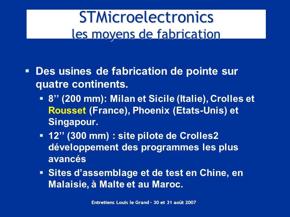 STMicroelectronics les moyens de fabrication