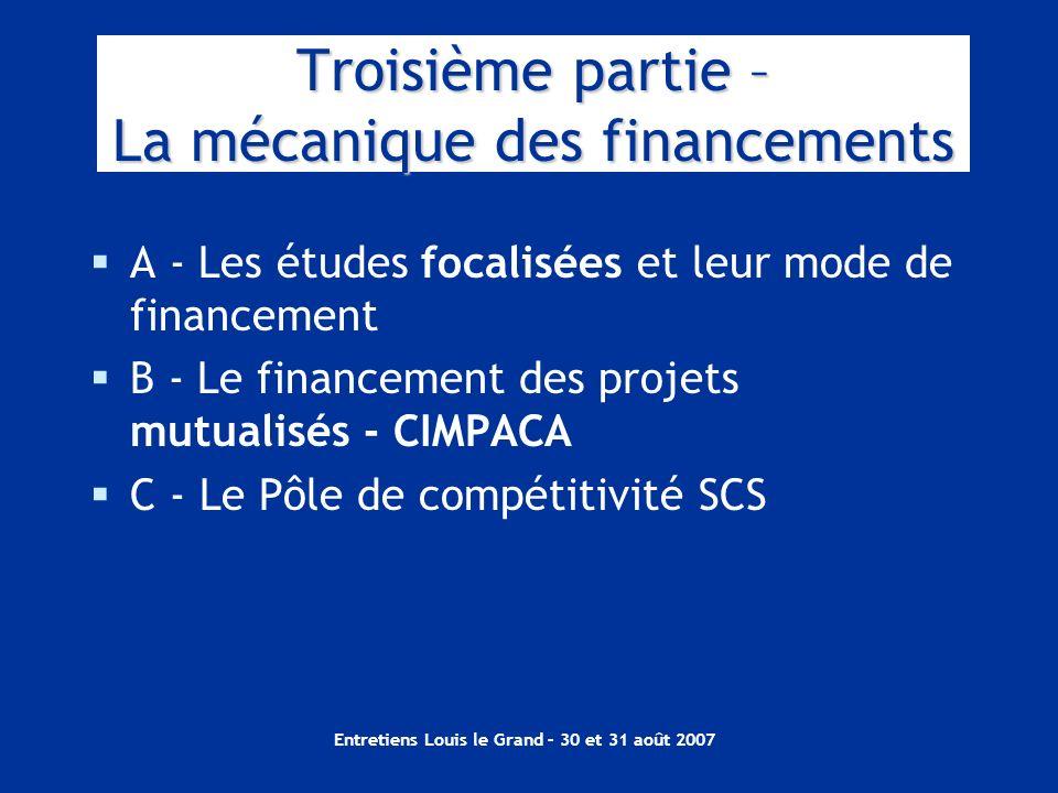 Troisième partie – La mécanique des financements