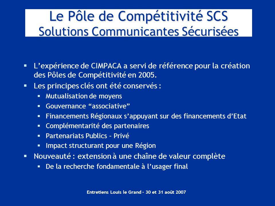 Le Pôle de Compétitivité SCS Solutions Communicantes Sécurisées