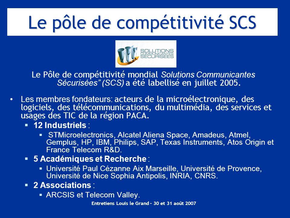 Le pôle de compétitivité SCS