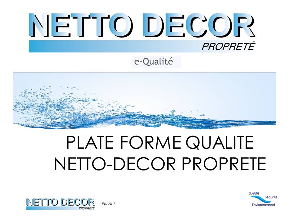 PLATE FORME QUALITE NETTO-DECOR PROPRETE Fev 2013