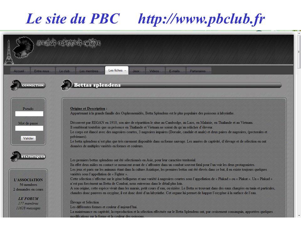 Le site du PBC http://www.pbclub.fr
