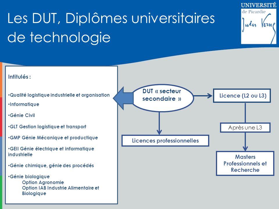 Les DUT, Diplômes universitaires de technologie