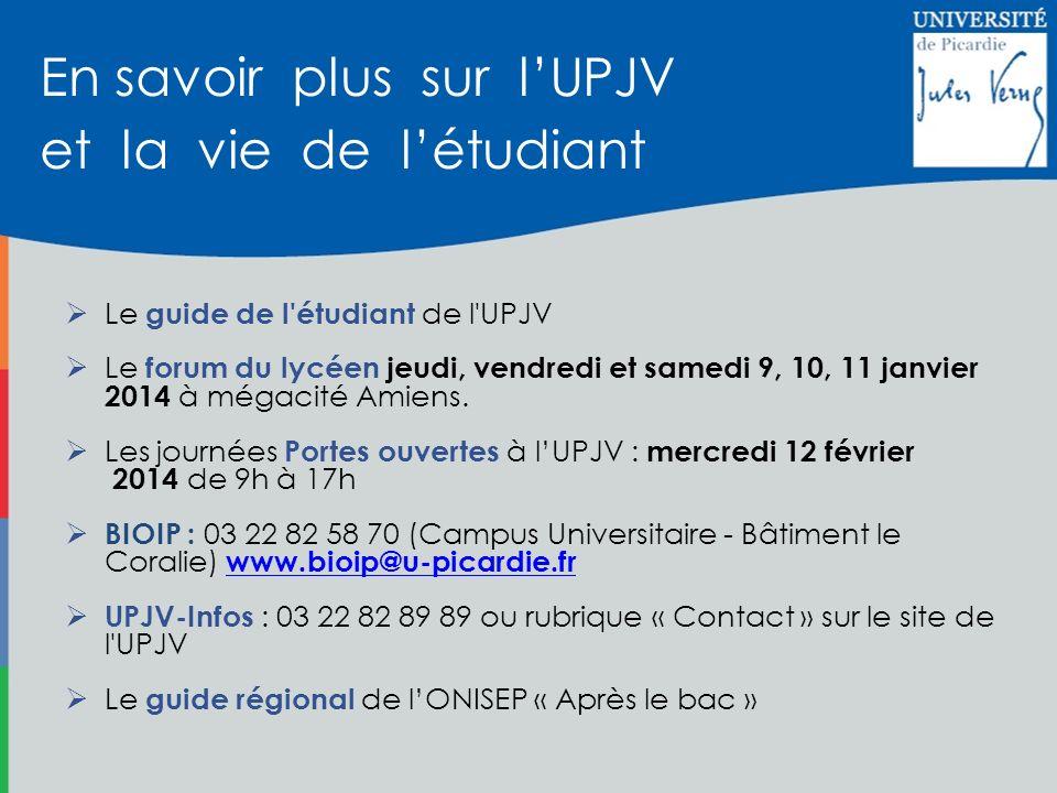 En savoir plus sur l'UPJV et la vie de l'étudiant