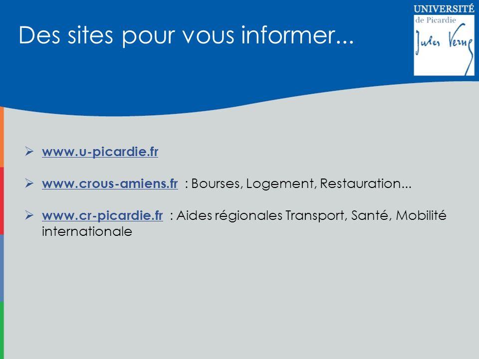 Des sites pour vous informer...