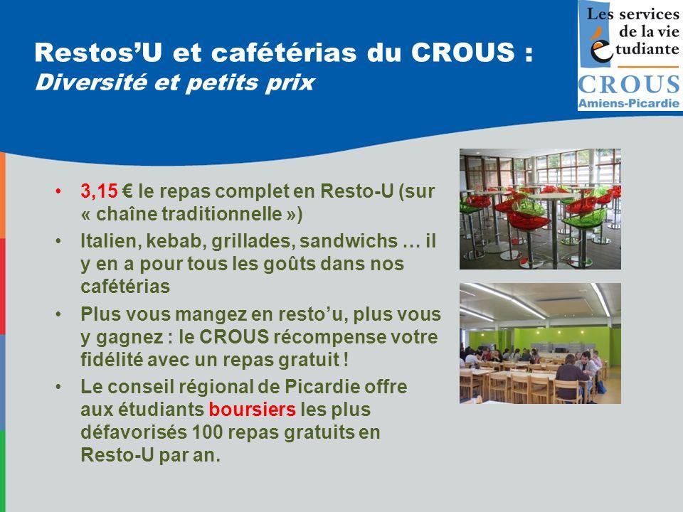 Restos'U et cafétérias du CROUS : Diversité et petits prix