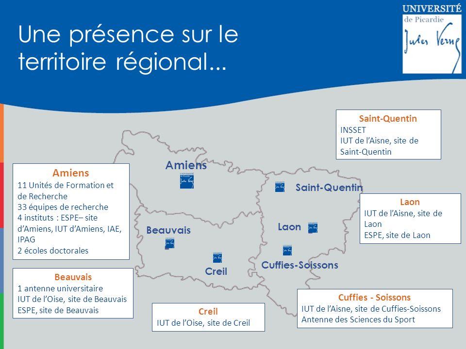 Une présence sur le territoire régional...