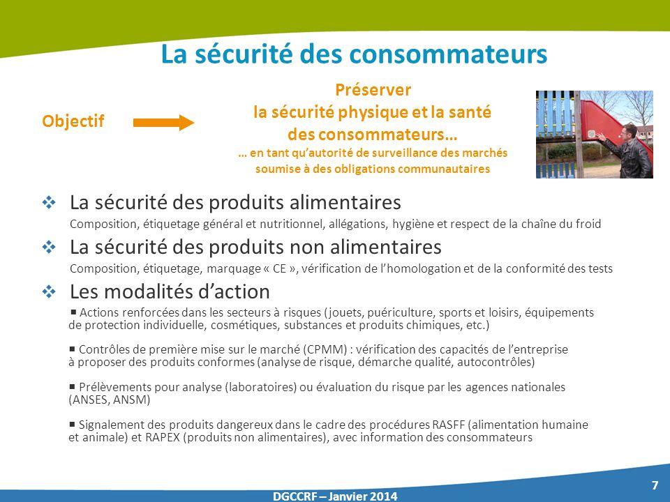 La sécurité des consommateurs