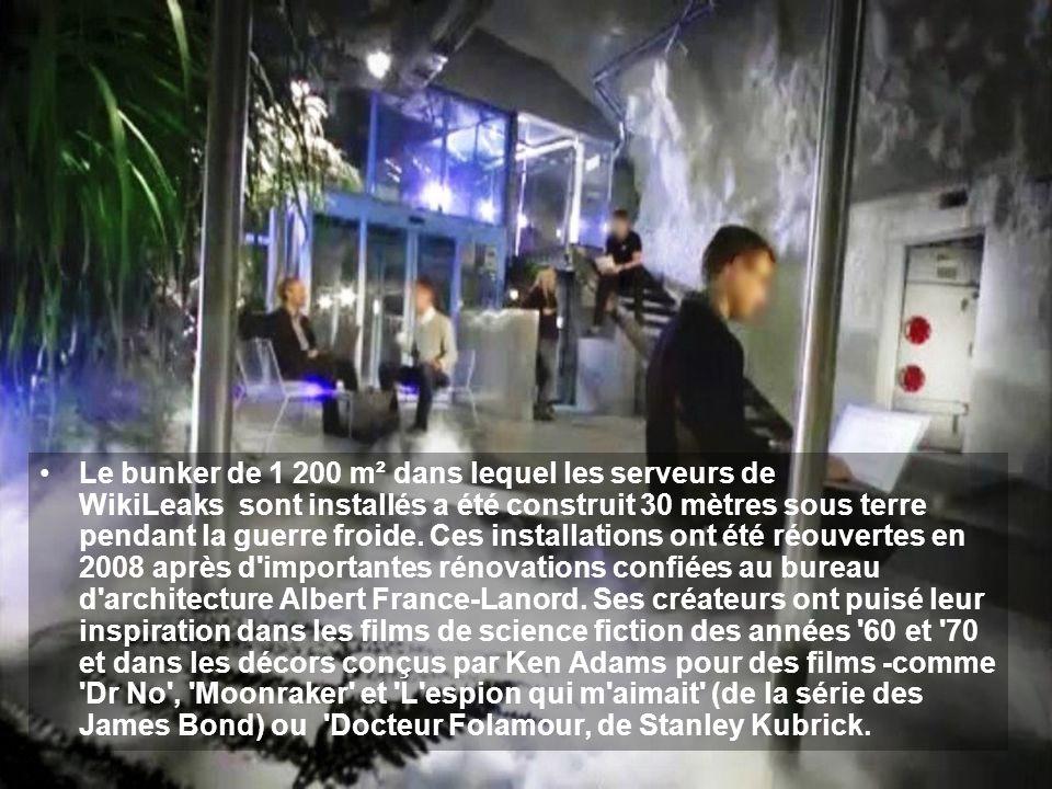 Le bunker de 1 200 m² dans lequel les serveurs de WikiLeaks sont installés a été construit 30 mètres sous terre pendant la guerre froide.