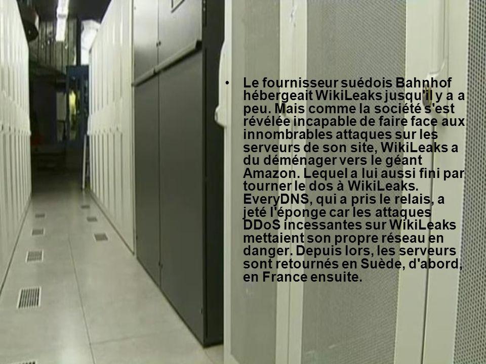 Le fournisseur suédois Bahnhof hébergeait WikiLeaks jusqu il y a a peu