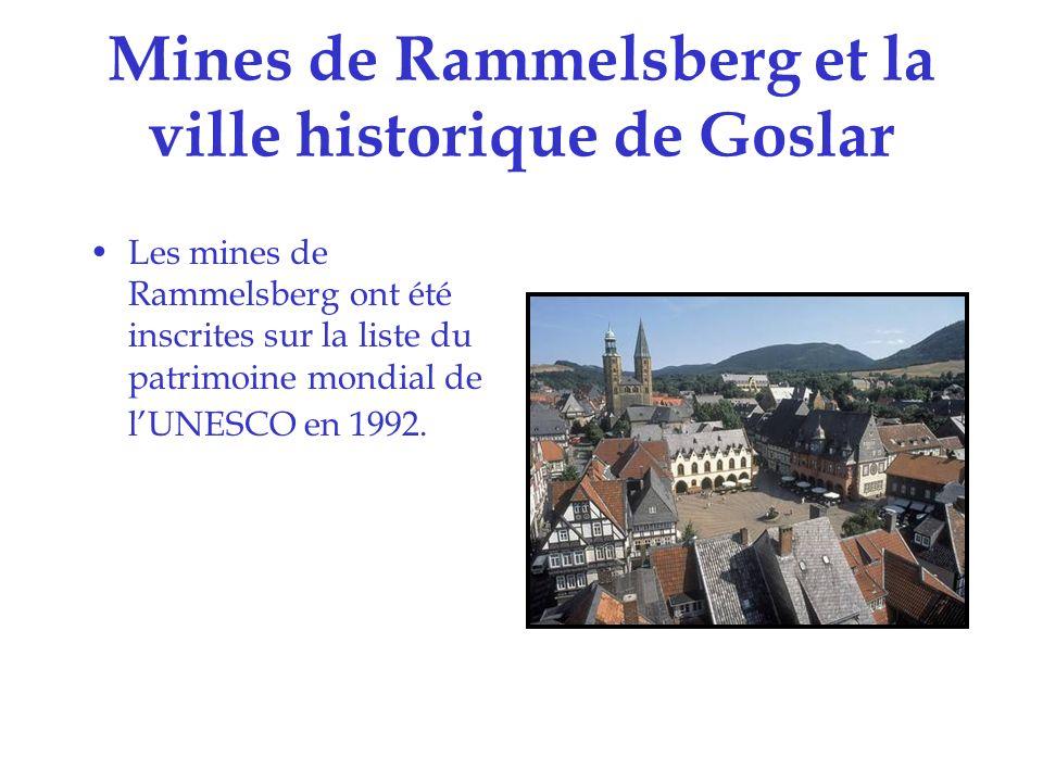 Mines de Rammelsberg et la ville historique de Goslar