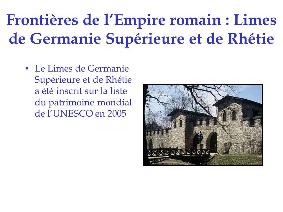 Frontières de l'Empire romain : Limes de Germanie Supérieure et de Rhétie