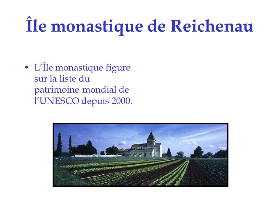 Île monastique de Reichenau