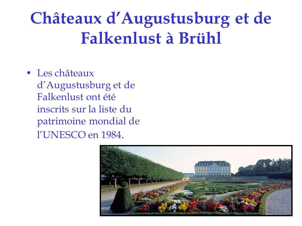 Châteaux d'Augustusburg et de Falkenlust à Brühl