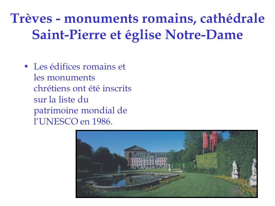 Trèves - monuments romains, cathédrale Saint-Pierre et église Notre-Dame
