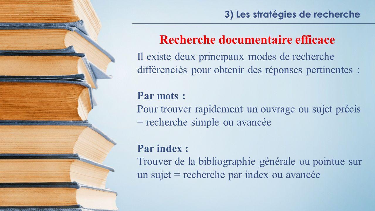 Recherche documentaire efficace