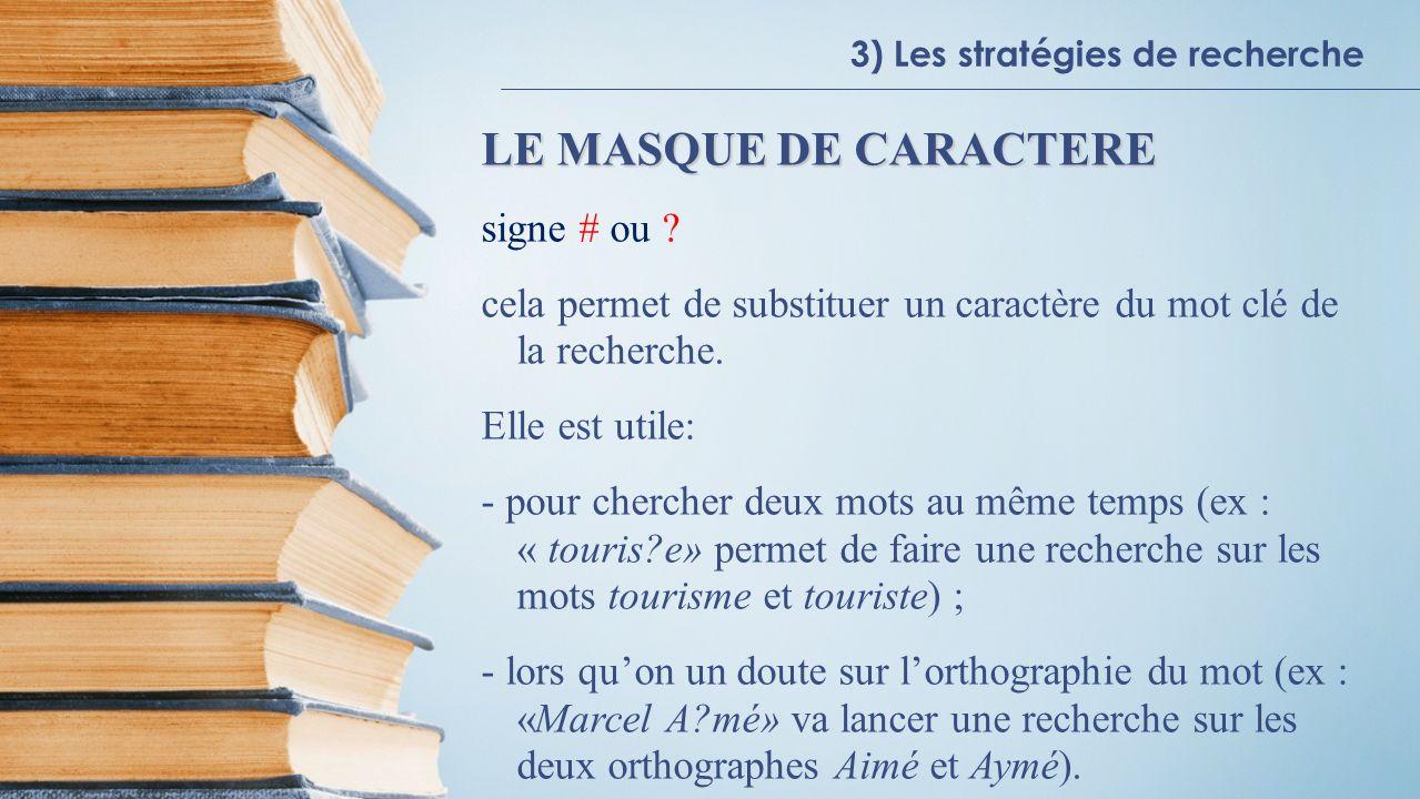 LE MASQUE DE CARACTERE signe # ou