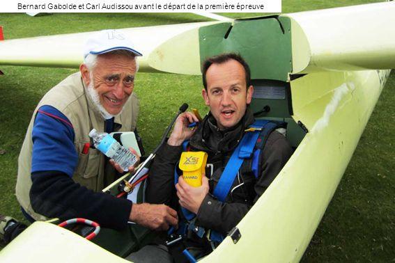 Bernard Gabolde et Carl Audissou avant le départ de la première épreuve