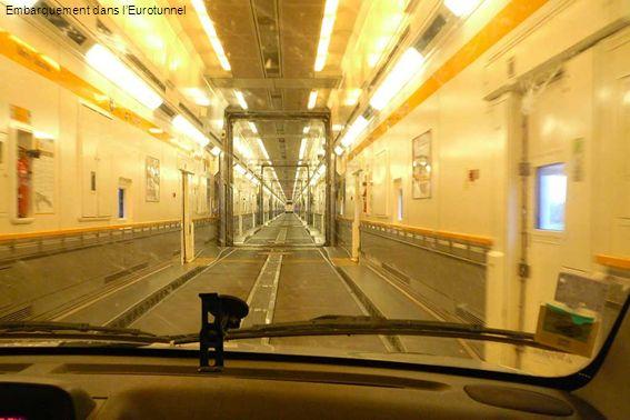 Embarquement dans l'Eurotunnel