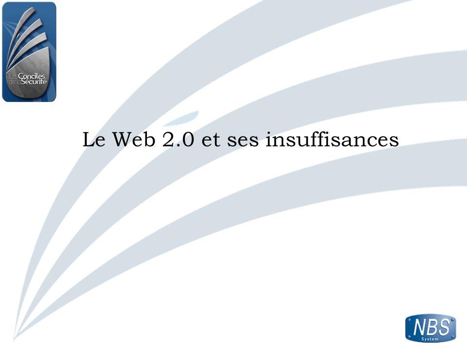 Le Web 2.0 et ses insuffisances