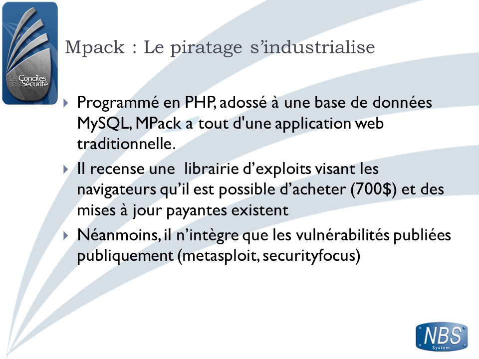 Mpack : Le piratage s'industrialise
