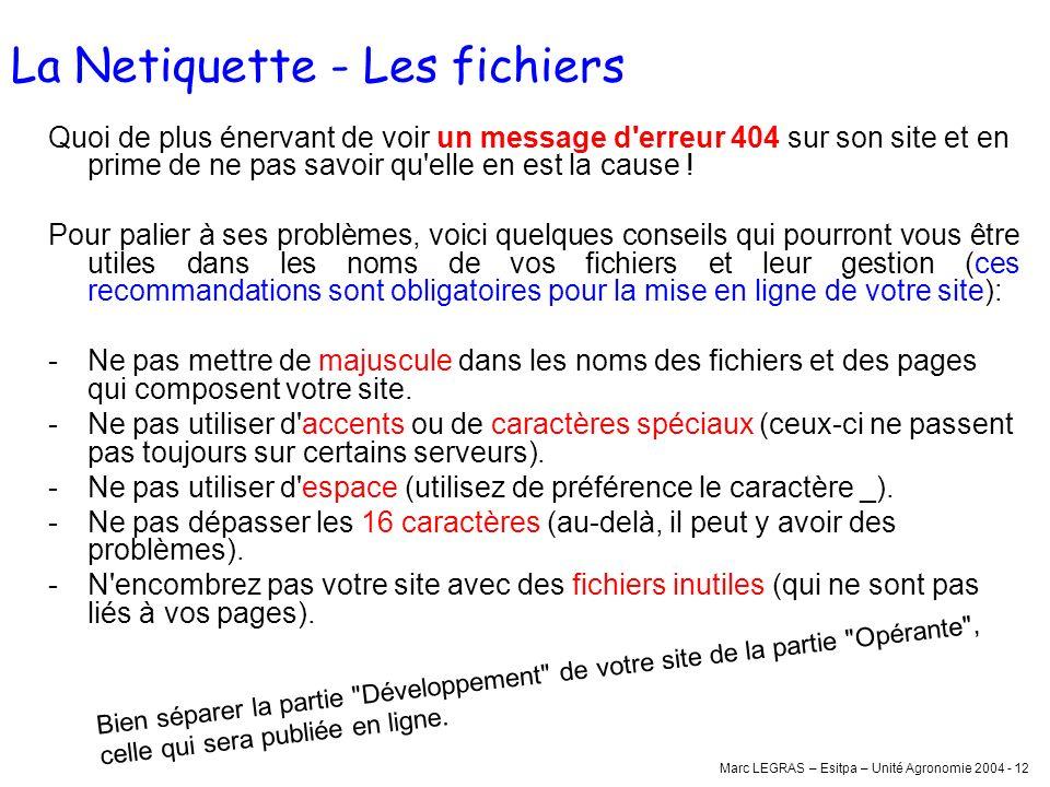 La Netiquette - Les fichiers