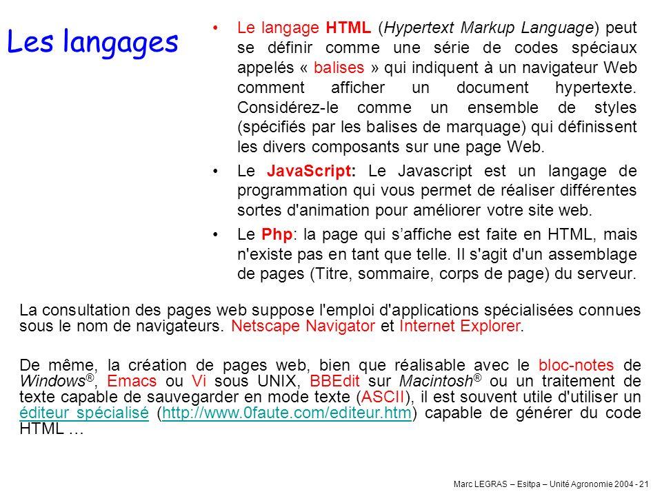 Les langages
