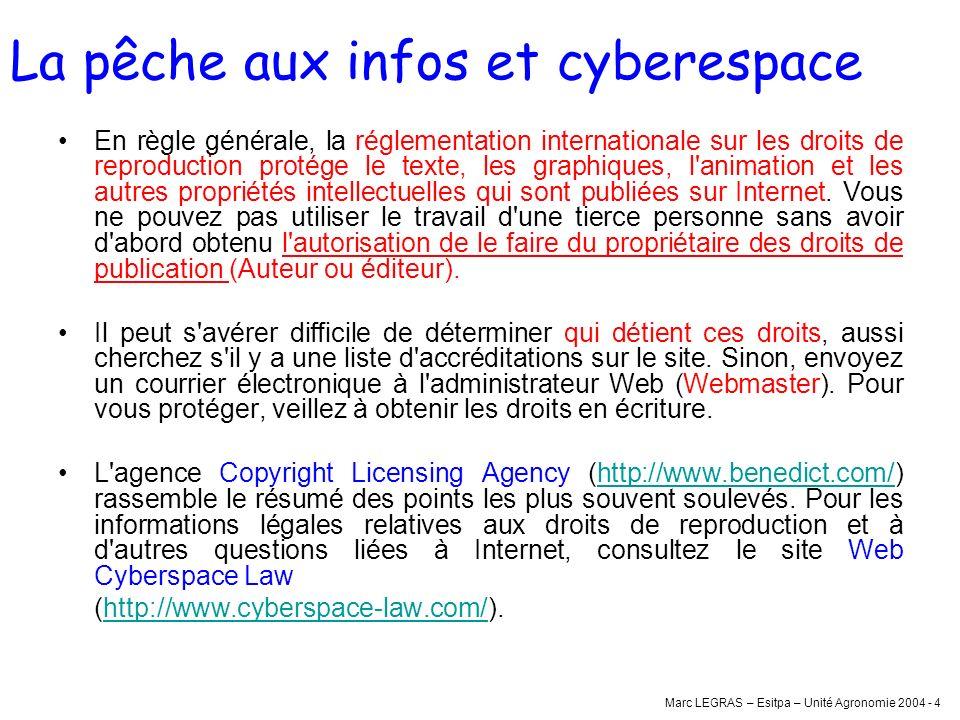 La pêche aux infos et cyberespace