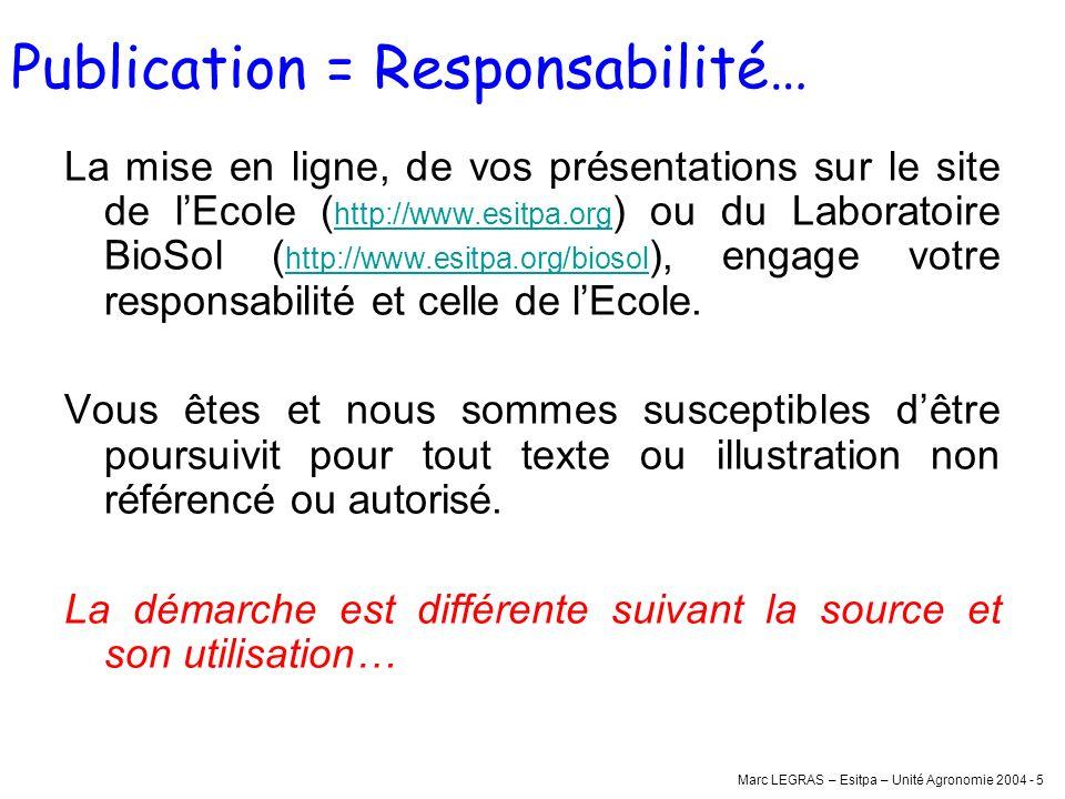 Publication = Responsabilité…