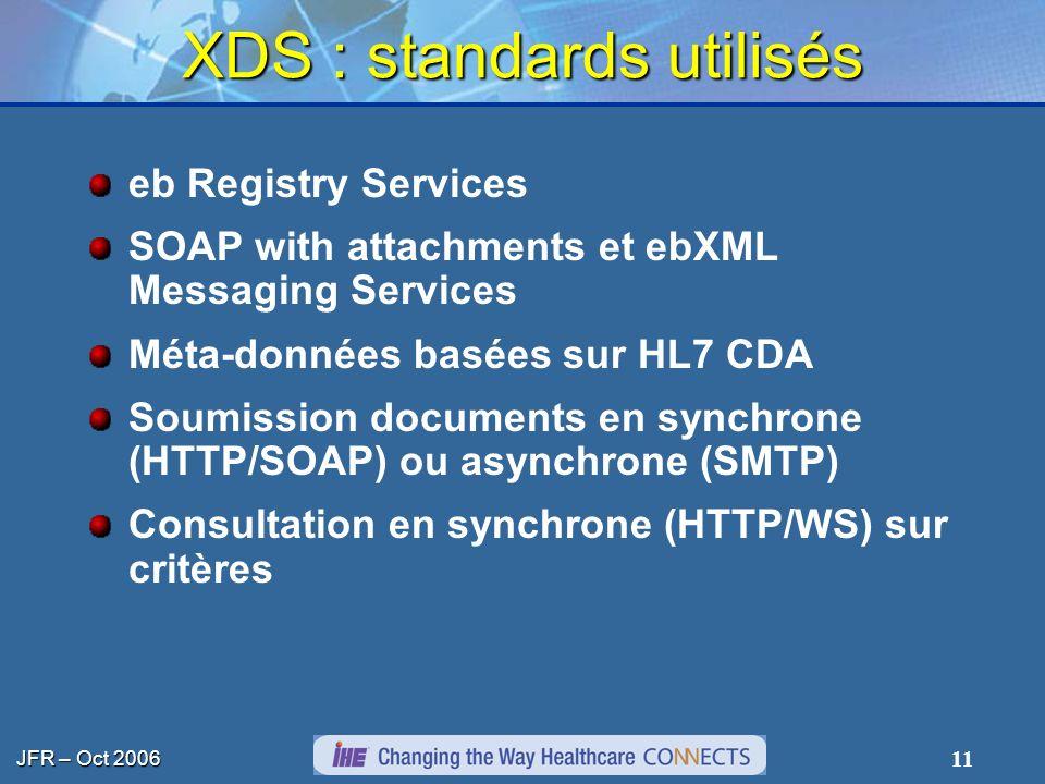 XDS : standards utilisés