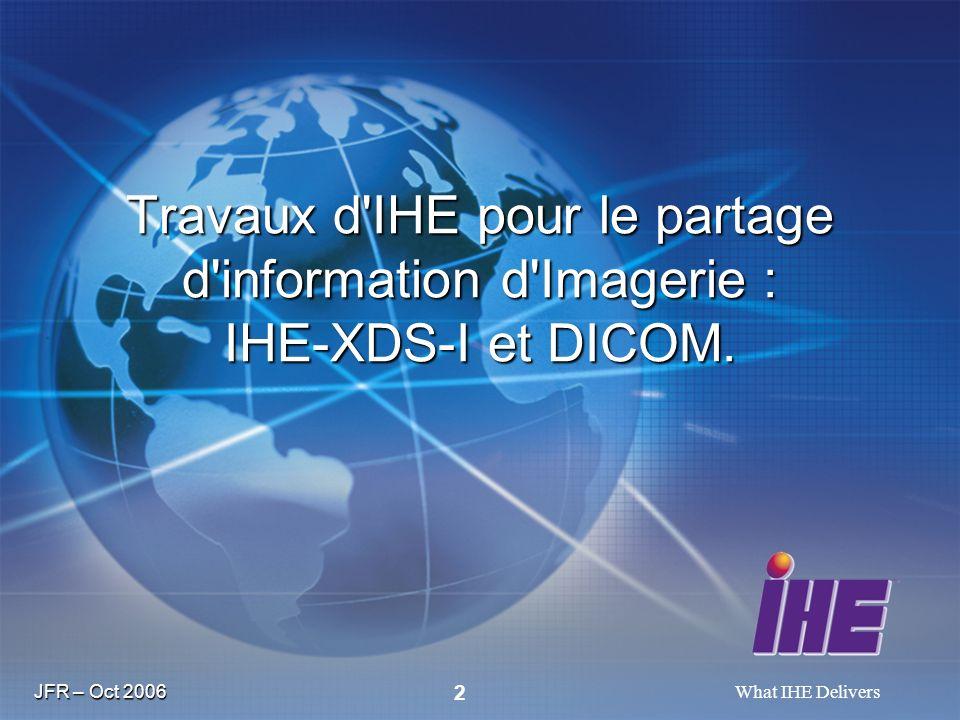 Travaux d IHE pour le partage d information d Imagerie : IHE-XDS-I et DICOM.