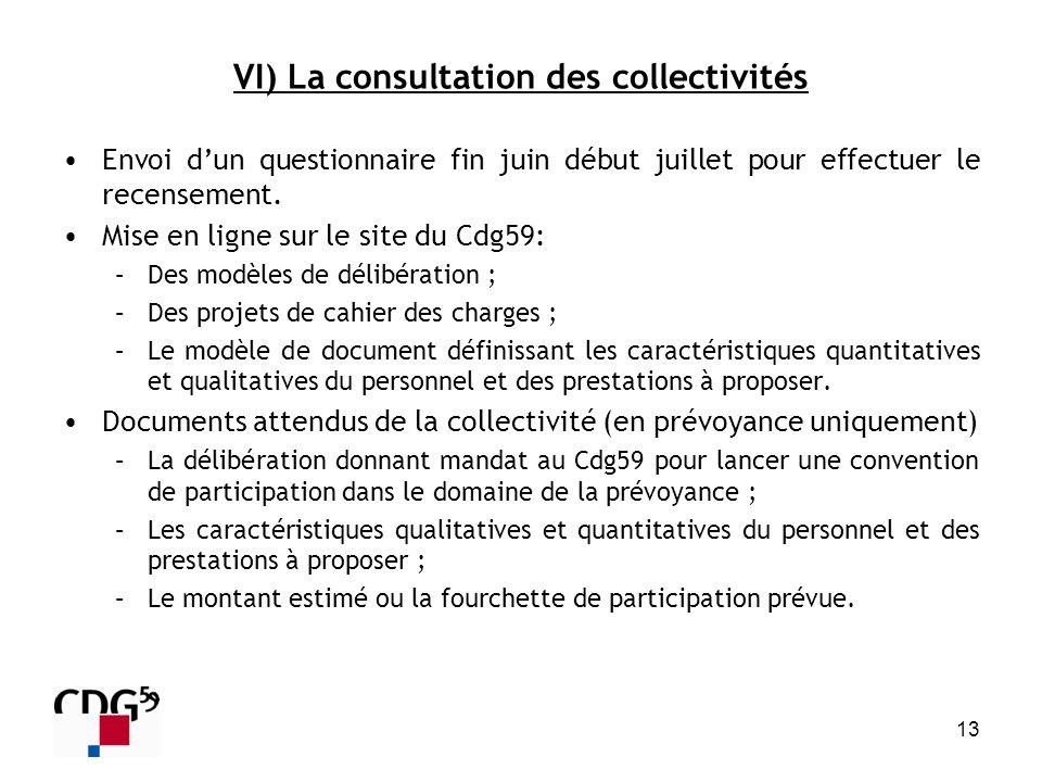 VI) La consultation des collectivités