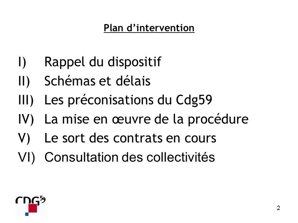 Les préconisations du Cdg59 La mise en œuvre de la procédure