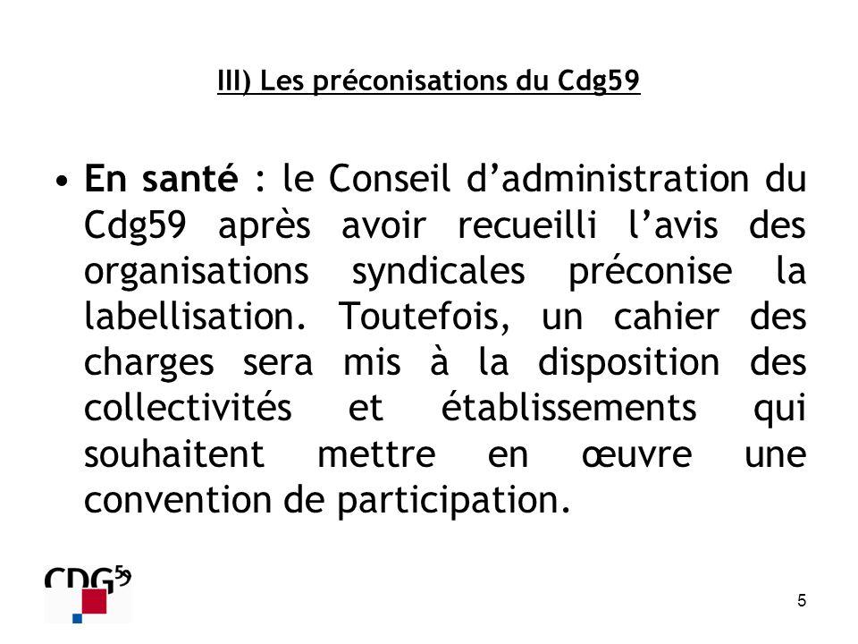 III) Les préconisations du Cdg59