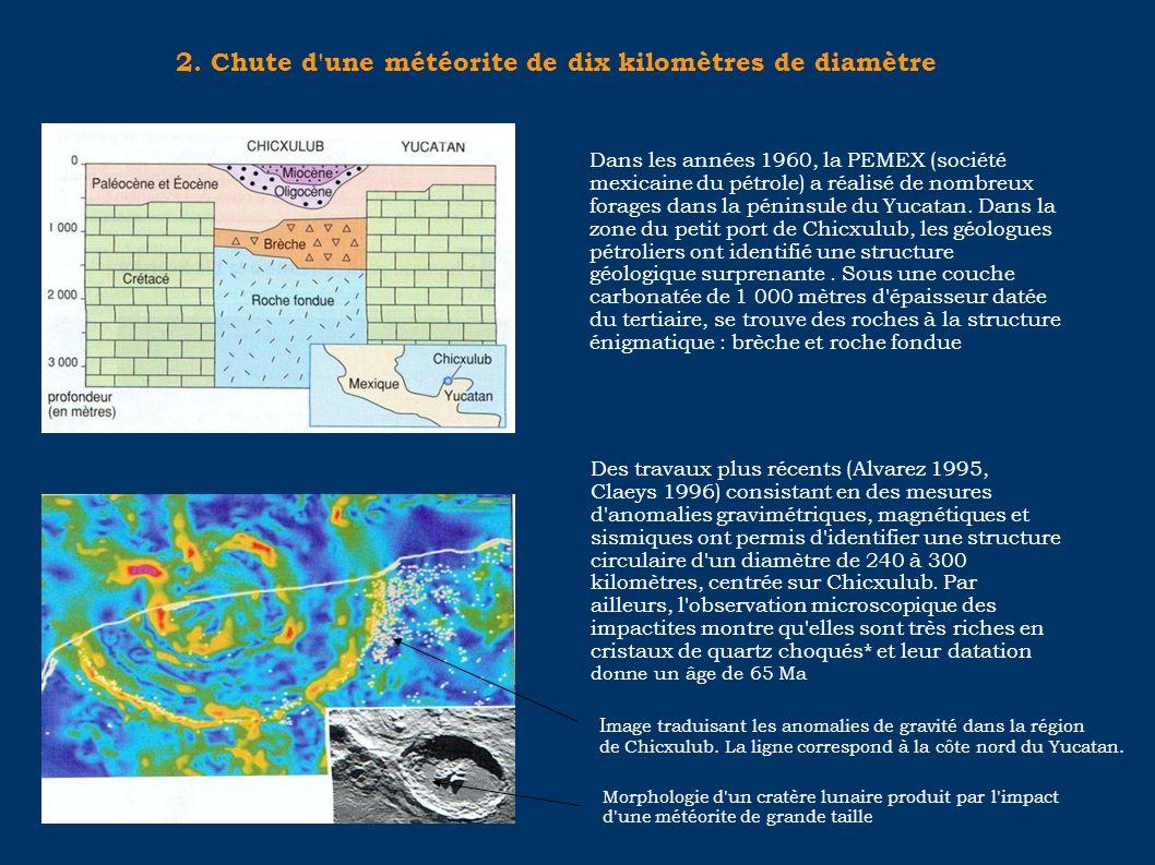 2. Chute d une météorite de dix kilomètres de diamètre