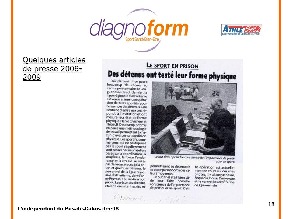 Quelques articles de presse 2008-2009