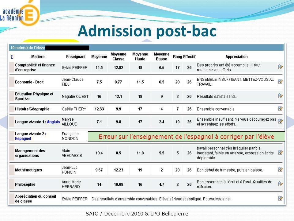 Admission post-bac 3e étape : Contrôle de vos bulletins trimestriels sur APB. Dans la semaine qui suit les conseils du 2ne trimestre – 1er mars.