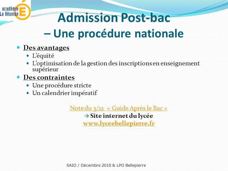 Admission Post-bac – Une procédure nationale