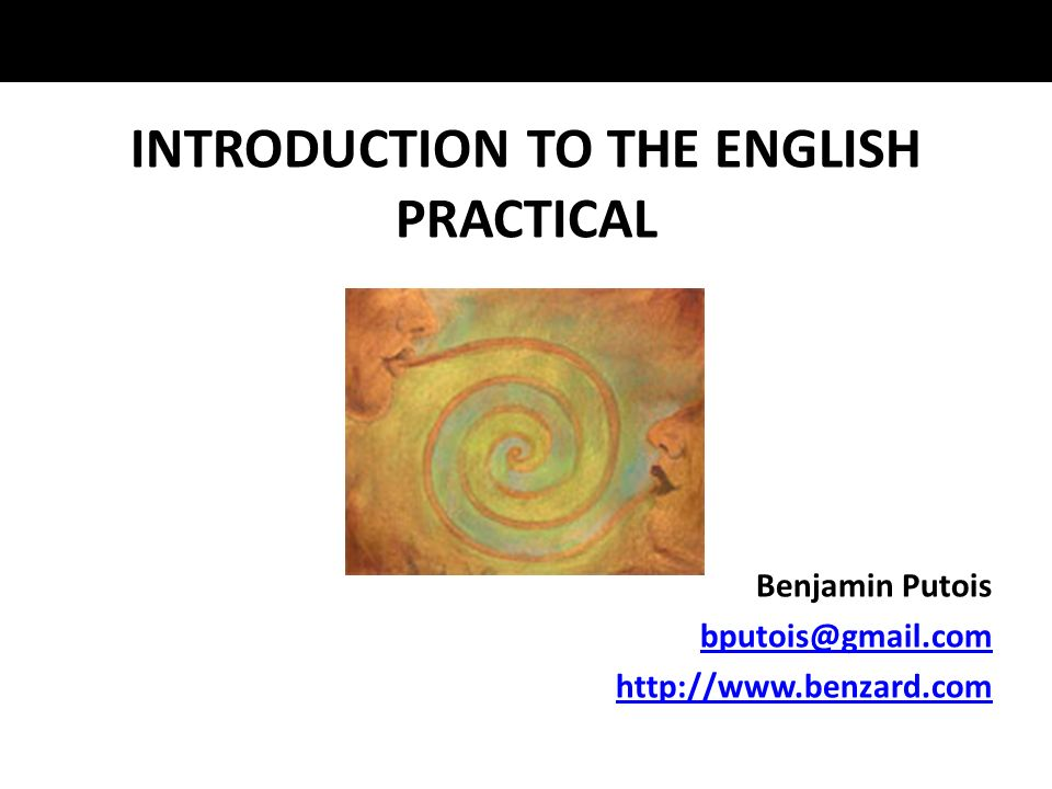 INTRODUCTION TO THE ENGLISH PRACTICAL