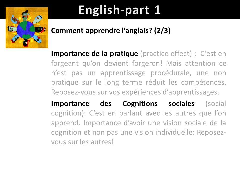 English-part 1 Comment apprendre l'anglais (2/3)